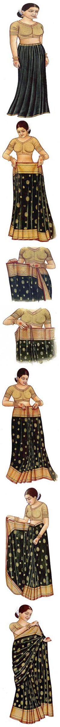 инструкция как завязывать сари