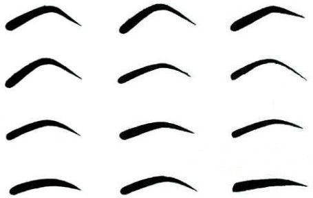 формы бровей