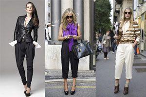 брюки галифе с летней одеждой