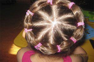 прическа в школу из резинок для волос фото