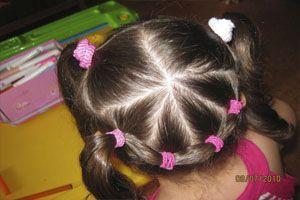 прическа из трех косичек и резинок для волос фото