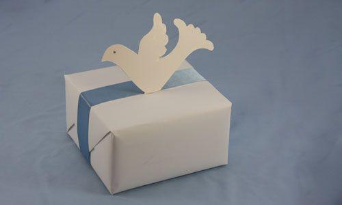 Голубь на подарке Фото