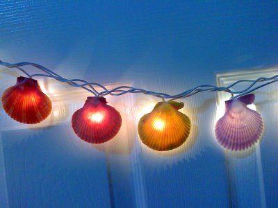 Гирлянда из ракушек с лампочками фото