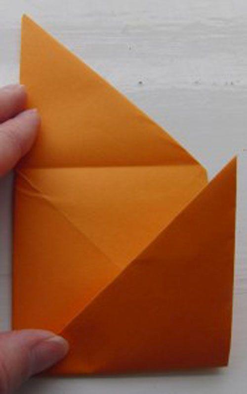 загибаем треугольники фото