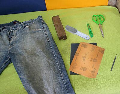 Что нужно что бы сделать рваные джинсы фото