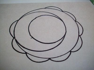 Рисуем полукруги вокруг самого большова круга фото