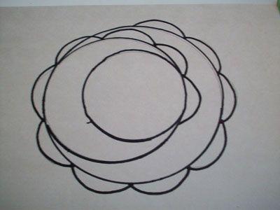 Рисуем полукруги на втором втуртенем круге фото