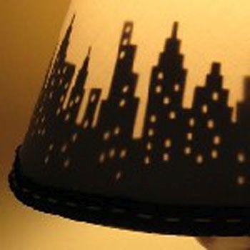Ночной город на абажуре Фото