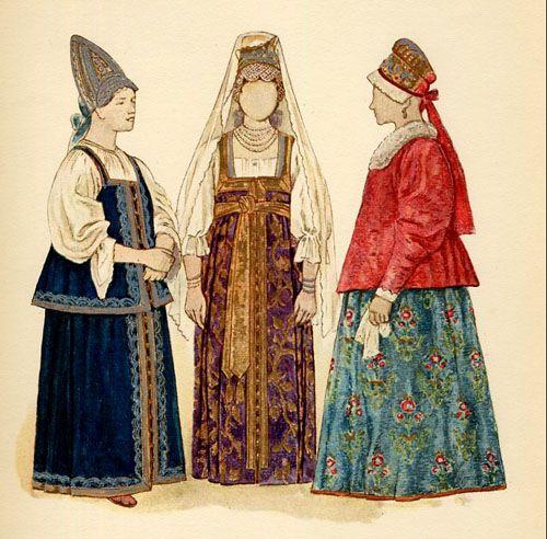 Традиционные русские сарафаны Фото