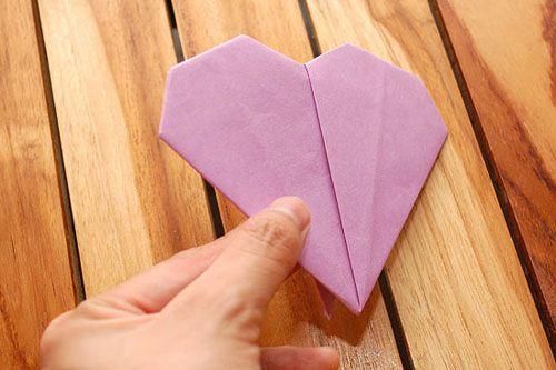 Готовое сердце оригами Фото