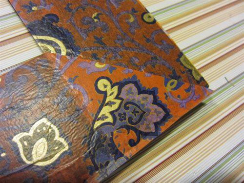 Обклейка рамы обёрточной бумагой Фото