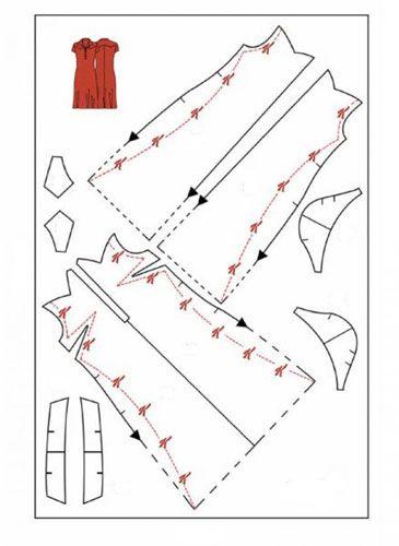 Выкройка приталенного платья
