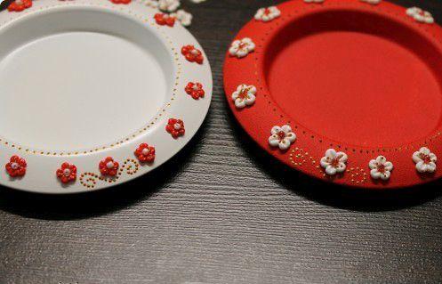 Праздничные тарелки Фото