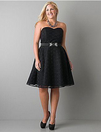 Нарядное платье для полной фигуры Фото