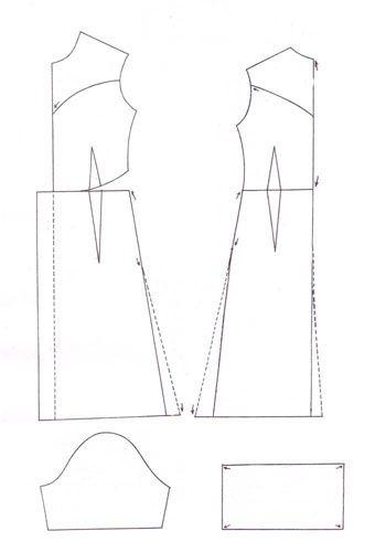 Выкройка делового платья