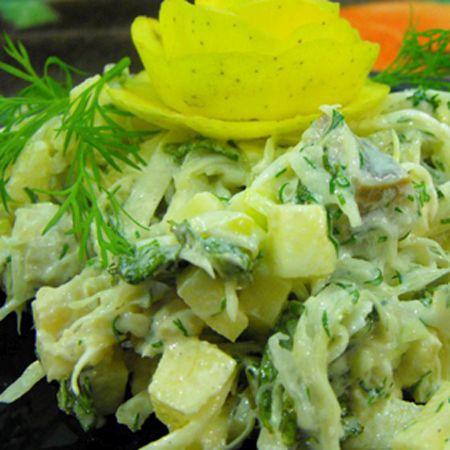Диетический салат из капусты фото