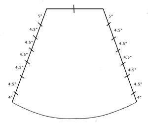 Схема провисающей части ламбрекена Фото
