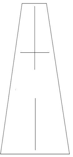 Выкройка клиньев юбки