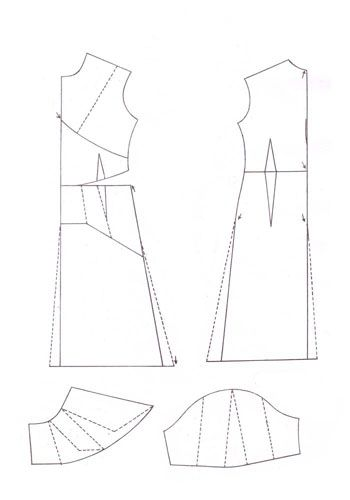 Выкройка нарядного платья