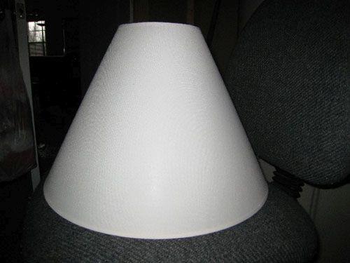 Белый абажур - основа Фото