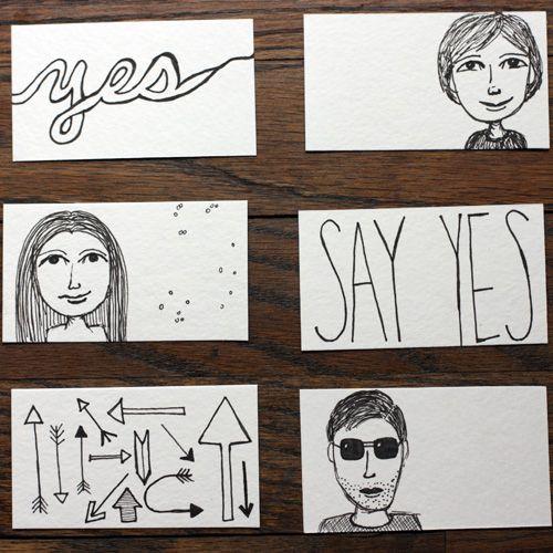Варианты рисунков на визитках Фото