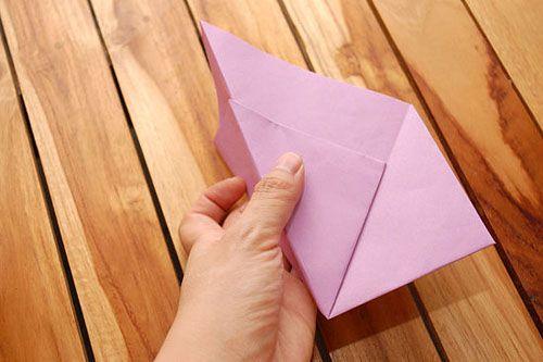 Сделайте клапан в форме треугольника Фото