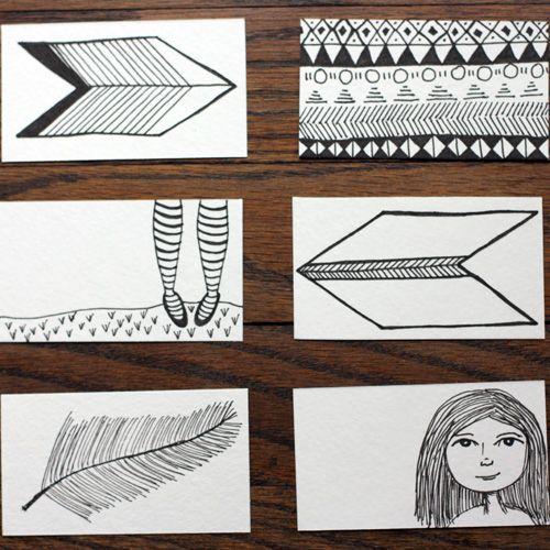 Ещё несколько вариантов изображений на визитках Фото