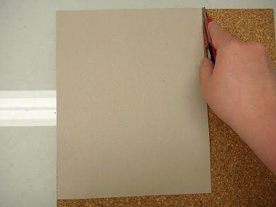 Вырезаем корк по размеру фото
