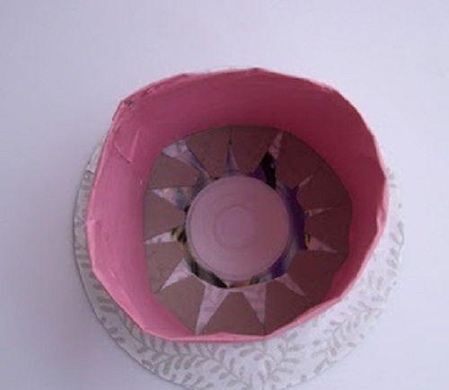 приклеиваем цилиндр к диску фото
