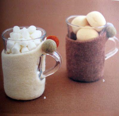 Чехлы для стаканов из фетра Фото
