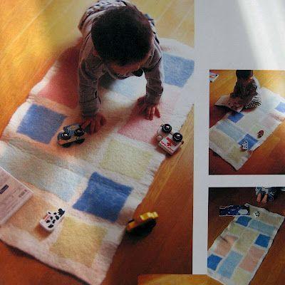 Детский коврик из фетра Фото