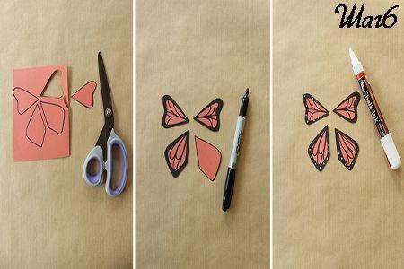 Делаем крылья из бумаги фото