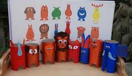 Игрушки из картона Фото