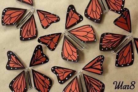 Бабочки из бумаги готовы фото