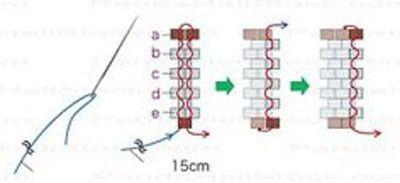 Техника плетения браслета Фото