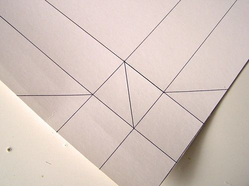 рисуем диагонали фото