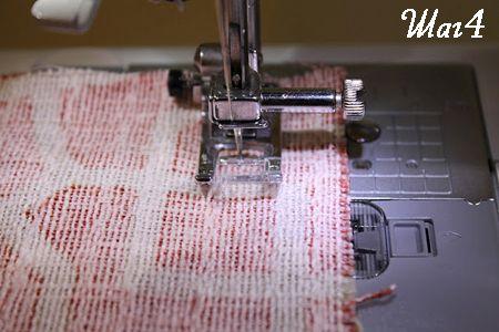 Сшиваем две части ткани фото