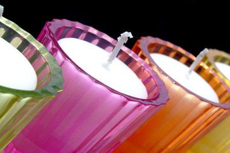 цветные стеклянные формы фото