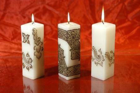 украшаем свечу бисером фото
