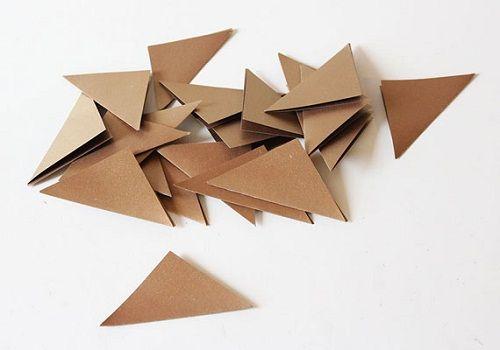 складываем треугольники фото