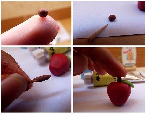 делаем ствол для яблока фото