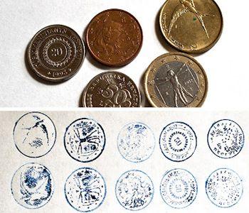 отпечатки монет фото