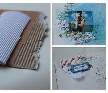 отпечатки рифленой бумаги фото