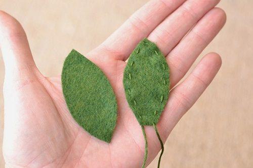 делаем листья фото