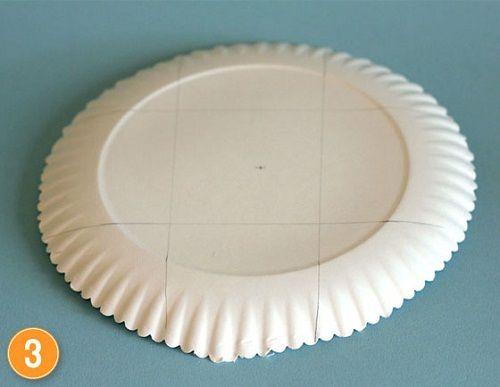 размечаем дно тарелки фото