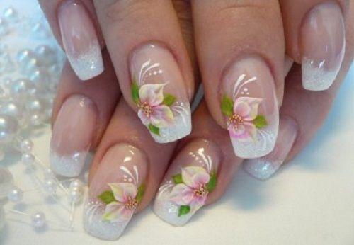 аквариумный дизайн ногтей гелем: