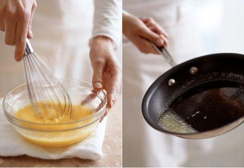 смешиваем ингредиенты и растапливаем масло фото