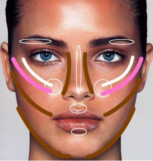 зоны нанесения макияжа фото