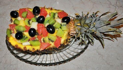 блюдо из ананаса фото