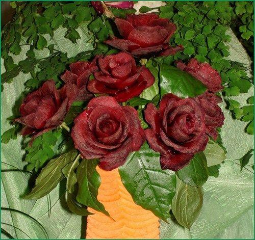 цветы из свеклы фото
